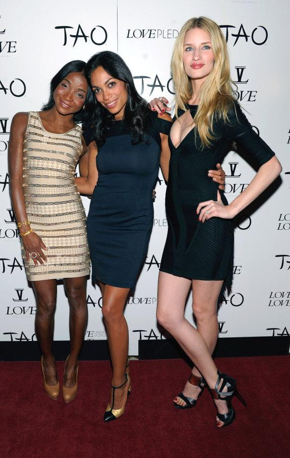 Genevieve Jones, Rosario Dawson and Linda Vojtova