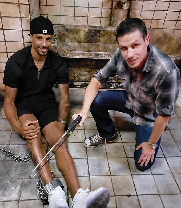 """America Ninja Warrior"" and Cleveland Cavaliers George Hill Try Their Luck at Saw Escape Experience in Las Vegas"