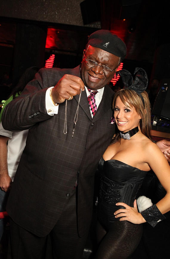 George Wallace and bunny Tiffany DeLeon
