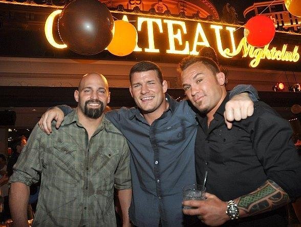 UFC's Tiki Ghosn, Michael Bisping and Razor Rob McCullough at Chateau Nightclub & Gardens