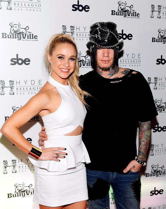 Glee's Becca Tobin with DJ Ashba at Hyde Bellagio, Las Vegas