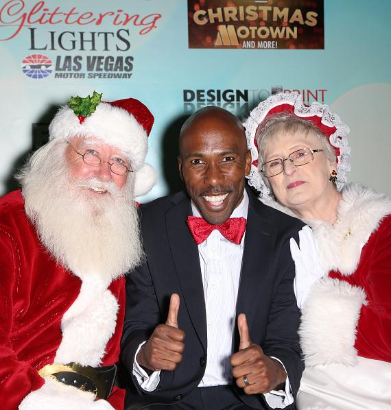Eric Jordan Young with Santa and Mrs. Claus