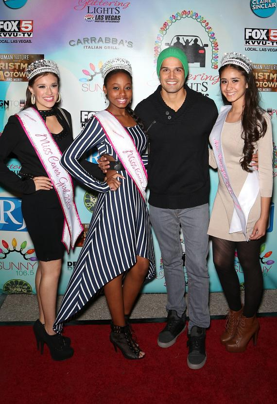 Ricardo Laguna and QM Nevada The New Quinceanera Magazine NV Queens (L-R Jessica Quintero, Shantis Salas and Kathy Acosta)