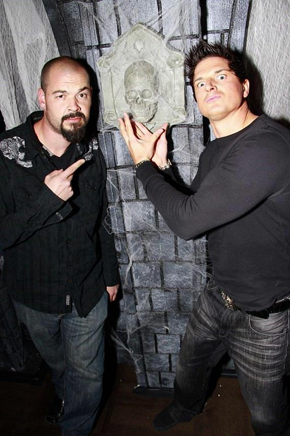 "Paranormal Investigator/Cameraman from Travel Channel's Series ""Ghost Adventures"" Aaron Goodwin with Lead Paranormal Investigator/Executive Producer from Travel Channel's Series ""Ghost Adventures"" Zak Bagans"