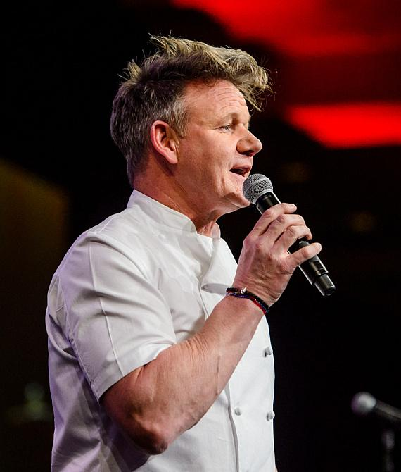"Gordon Ramsay at ""Salute to Vegas Heroes"" Dinner at Caesars Palace"