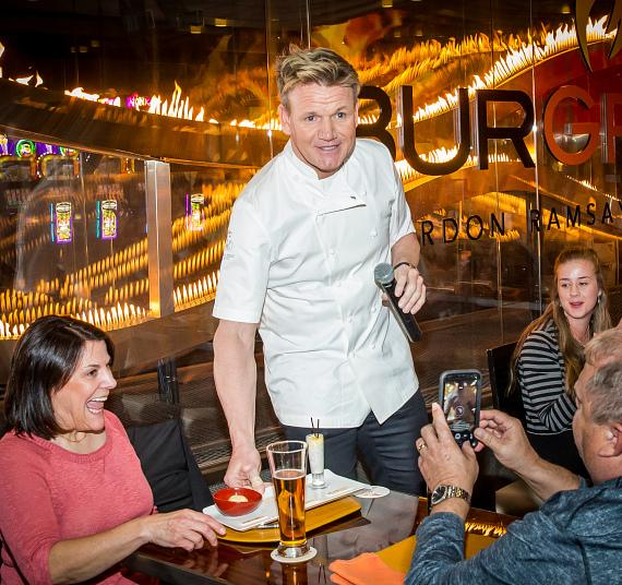 Chef Gordon Ramsay surprises guests at Gordon Ramsay BurGR at Planet Hollywood Resort & Casino
