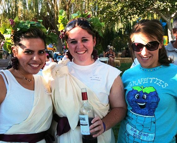 Grape Stomp Festival Participants at Pahrump Valley Winery