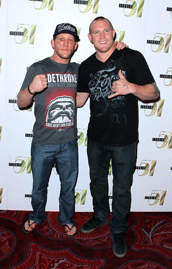 Gray Maynard and Rusty Malinoski at Studio 54 Las Vegas