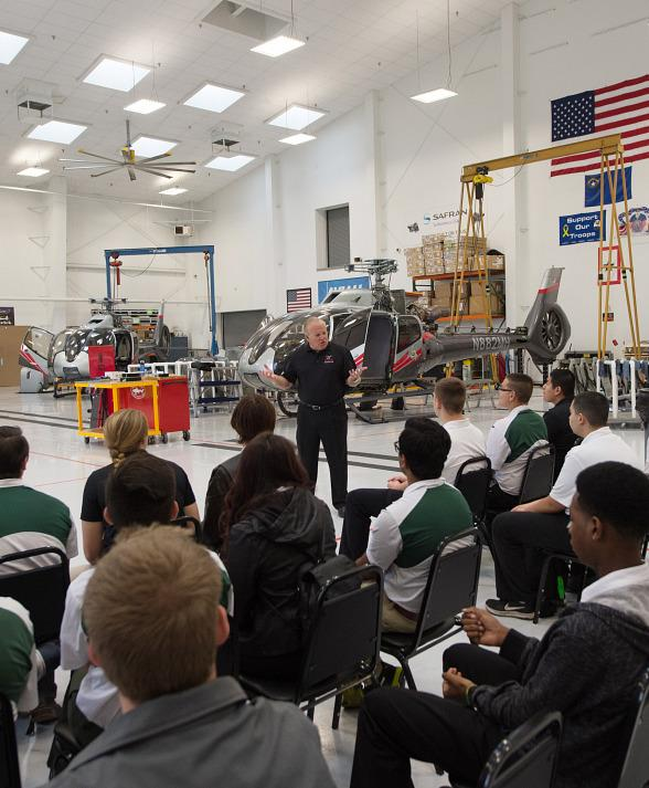 Maverick Aviation Group Welcomes Rancho High School's Aviation Magnet Program for Behind-the-Scenes Tour