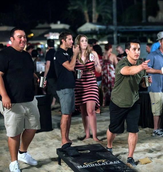 Guests Enjoy Games at the Las Vegas Beer and Barrel Project 2014