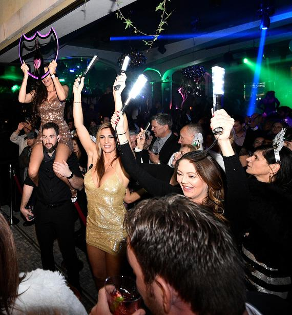 Guests sipped on champagne and toasted to the new year with Dom Perignon at Hyde Bellagio