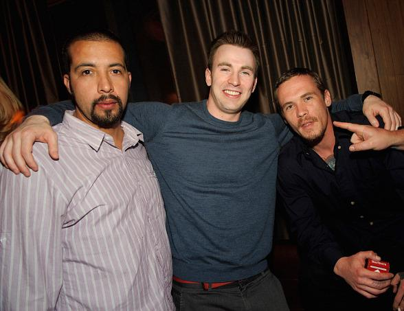 Guillermo Lozano, Chris Evans and Blake Heron at Marquee Nightclub
