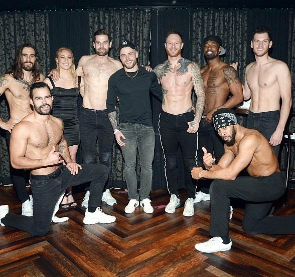 """U.S. Olympic Skier Gus Kenworthy Spotted at """"Magic Mike Live"""" at Hard Rock Hotel & Casino in Las Vegas"""
