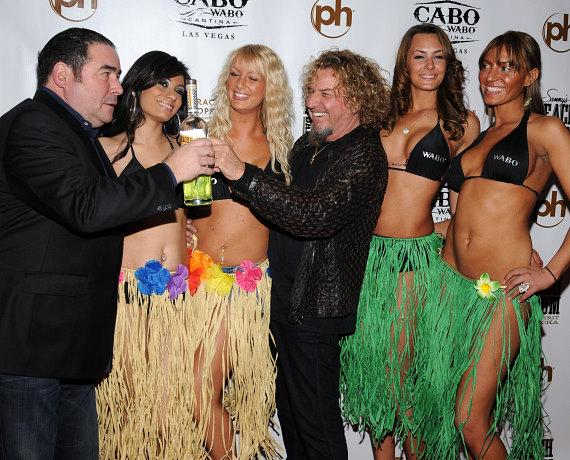 Emeril Lagasse and Sammy Hagar launch Beach Bar Rum at Cabo Wabo Cantina