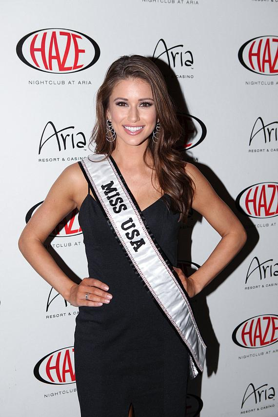 Miss USA Nia Sanchez arrives at HAZE