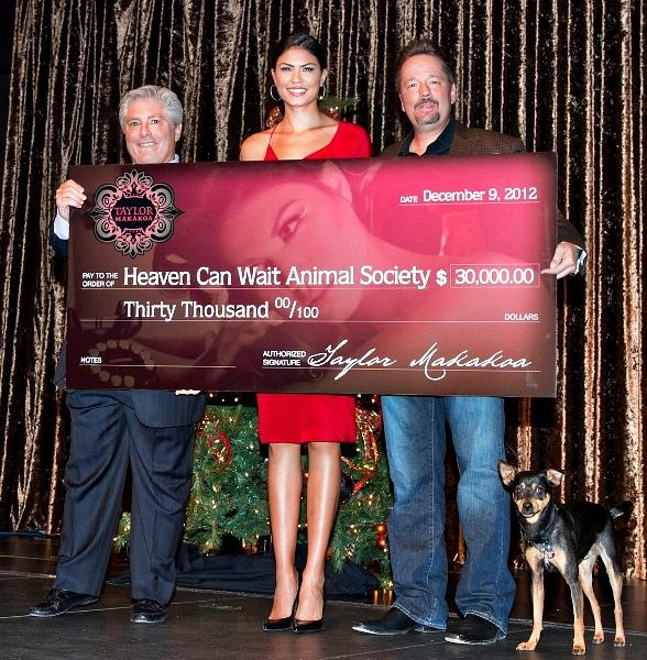 Taylor Makakoa and Terry Fator Make Large Donation to Heaven Can Wait Society at Holiday Luncheon
