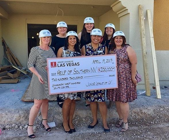 Junior League of Las Vegas Donates $200,000 to Help Of Southern Nevada's Shannon West Homeless Youth Center