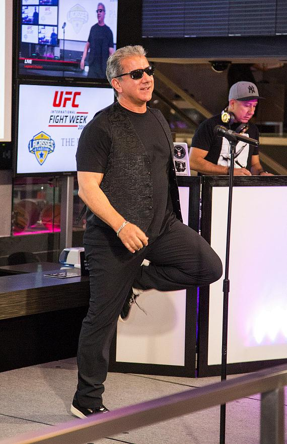 Veteran Voice of the Octagon Bruce Buffer Performs at the UFC Lip Sync Challenge at Lagasse's Stadium