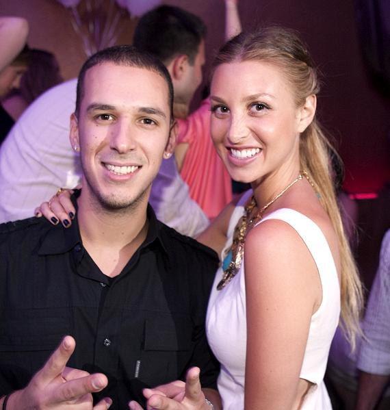 DJ Erik D-Lux with Whitney Port at Vanity
