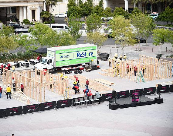 Habitat Las Vegas home build at T-Mobile Arena, April 6, 2017