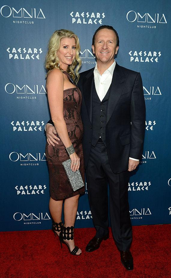 Hakkasan Group CEO Neil Moffit and wife Heidi Moffitt at OMNIA Nightclub