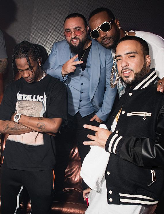French Montana Juicy J and Travis Scott at Hakkasan