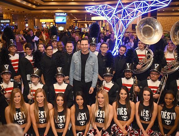 Tiësto with UNLV Marching Band