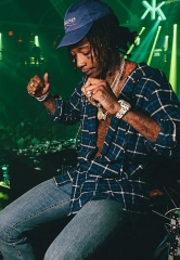 Wiz Khalifa, French Montana, Louis Tomlinson, Bebe Rexha, and Juicy J Spotted at Hakkasan Nightclub