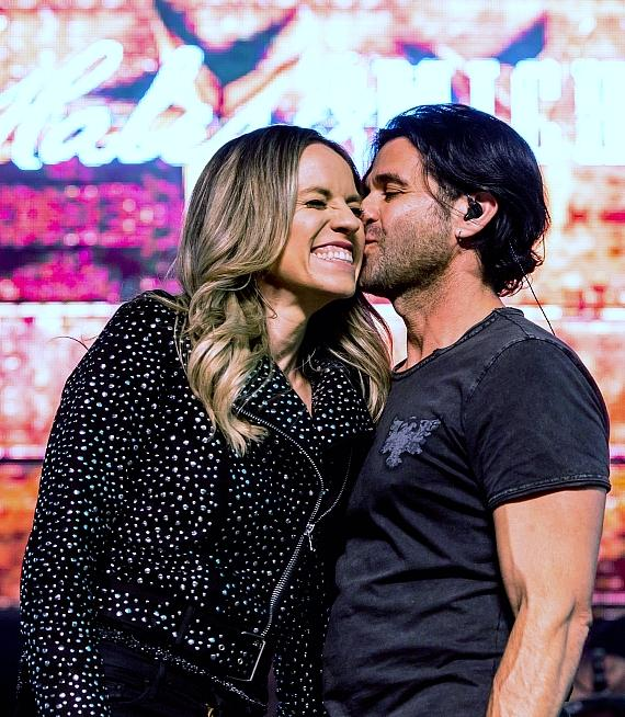 Haley & Michaels take over 1st Street Stage during Downtown Hoedown at Fremont Street Experience