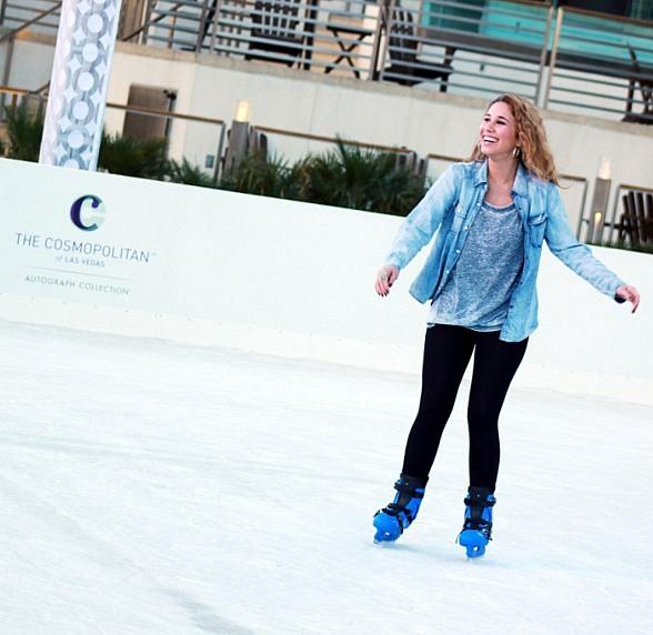 """American Idol"" Finalist Haley Reinhart Skates at The Ice Rink at BLVD Social Club at The Cosmopolitan of Las Vegas"