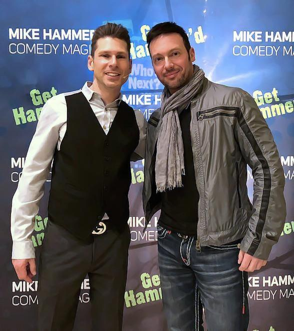 "Illusionist David Goldrake Attends ""The Mike Hammer Comedy & Magic Show"" at The Four Queens Hotel & Casino in Las Vegas"