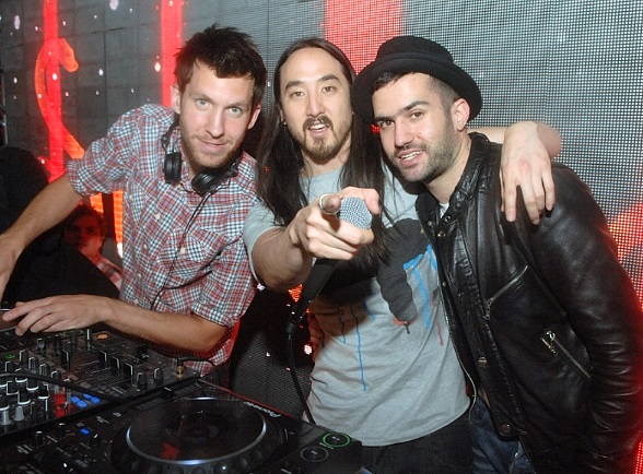 Calvin Harris, Steve Aoki and A-Trak