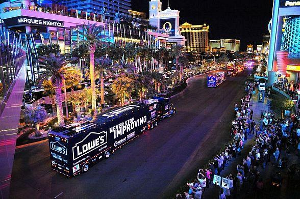 Watch the NASCAR Hauler Parade on The Las Vegas Strip March 9