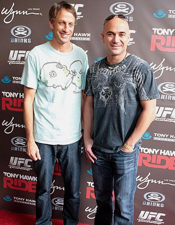 Tony Hawk and Andre Agassi