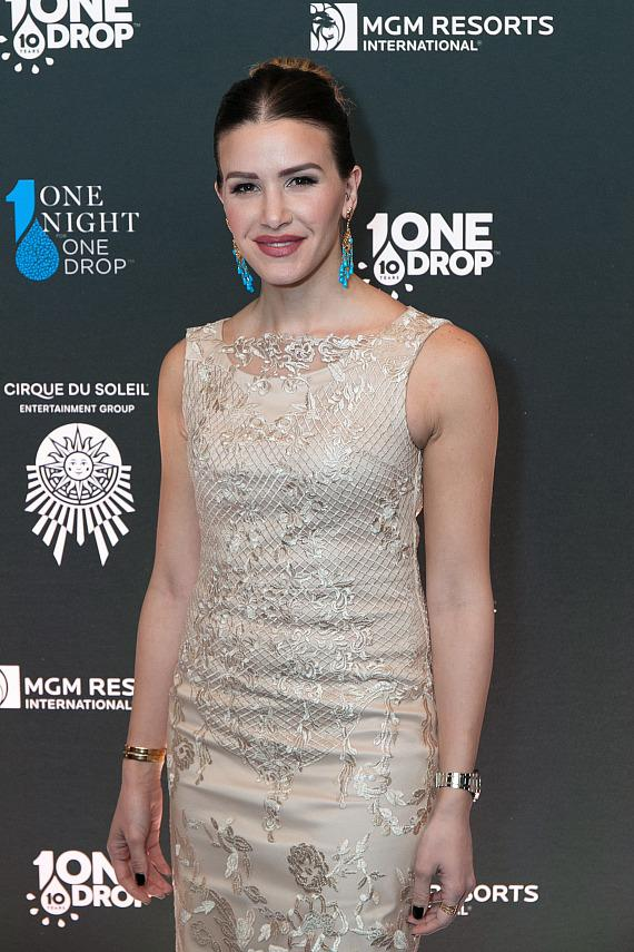 Her Highness Princess Nejla Bint Asem at the sixth edition of One Night for One Drop imagined by Cirque du Soleil