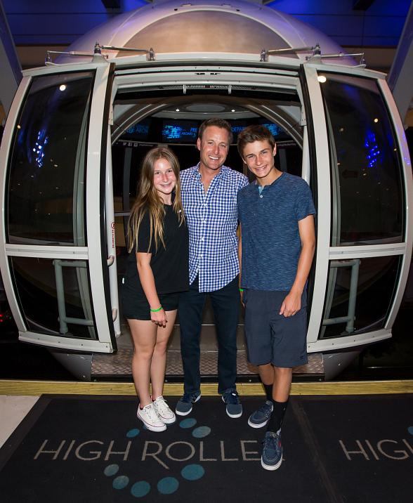 """The Bachelor"" & ""Who Wants to be a Millionaire"" Host Chris Harrison Takes a Journey on the High Roller Observation Wheel in Las Vegas"