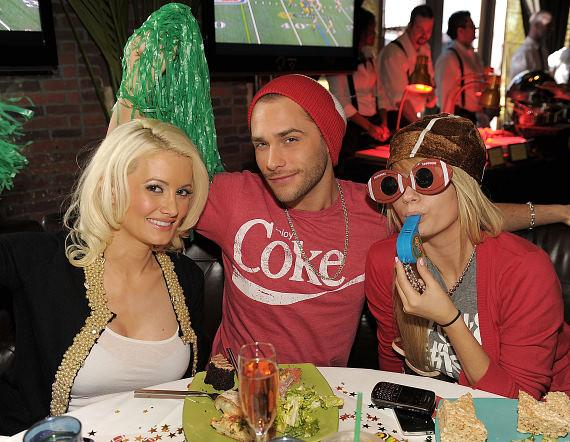 Holly Madison, Josh Strickland and Angel Porrino at LAVO