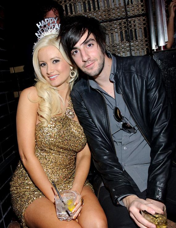 Holly Madison and boyfriend Jack Barakat bring in the new year at Lavo Las Vegas