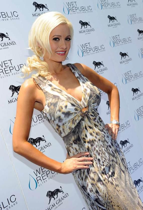 Holly Madison at WET REPUBLIC - Blue Carpet in Roberto Cavalli