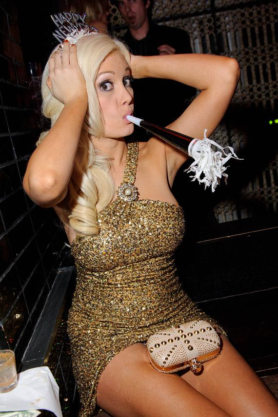 Holly Madison celebrates New Year's Eve