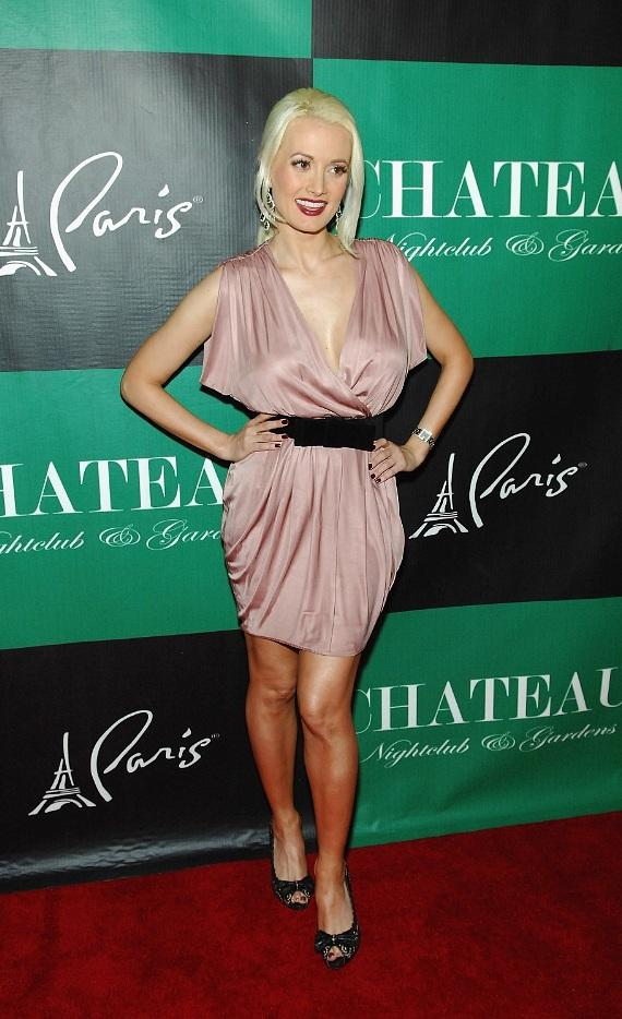 """Peepshow"" star Holly Madison poses on the red carpet at Chateau Nightclub & Gardens in Las Vegas"