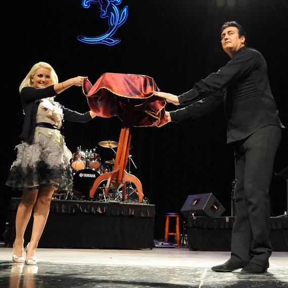 Holly Madison assists magician Rick Thomas at 2nd Annual Nevada Wild Fest at the Henderson Pavilion
