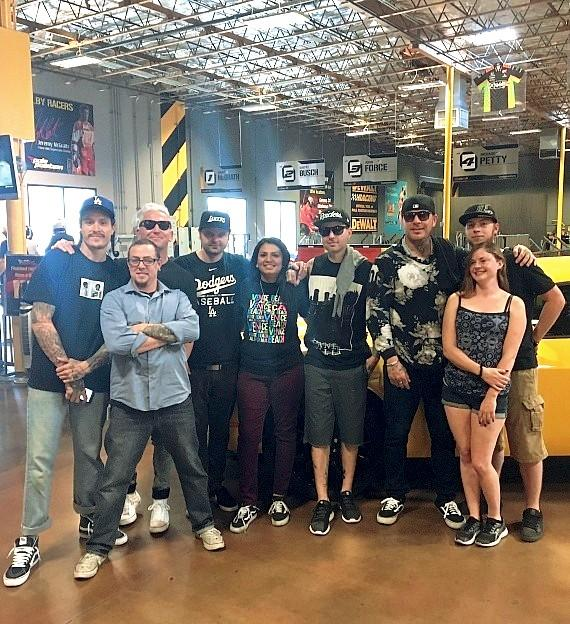 Hollywood Undead and fans at Pole Position Raceway