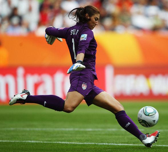 USA Goalie Hope Solo
