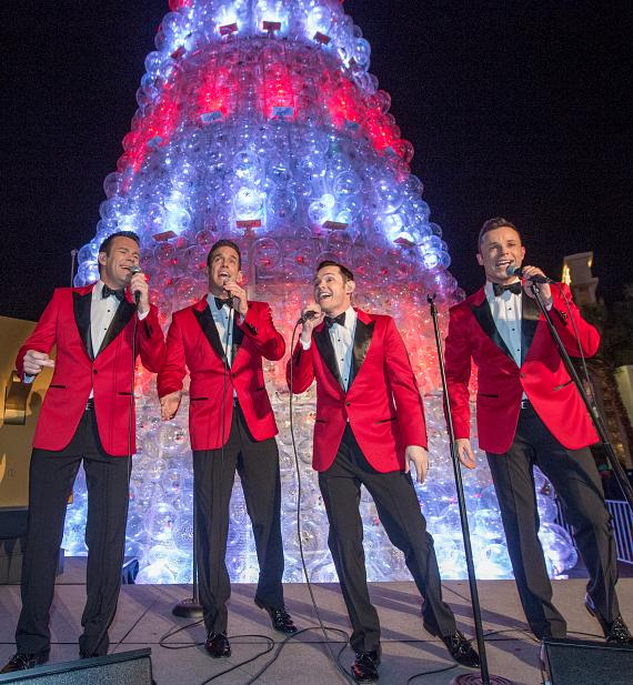 Human Nature Performs at The Venetian Las Vegas Christmas Tree Lighting