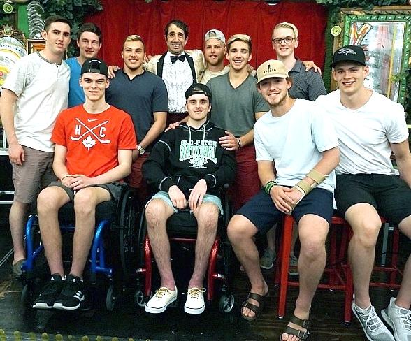 Humboldt Broncos Hockey Players Attend ABSINTHE at Caesars Palace in Las Vegas