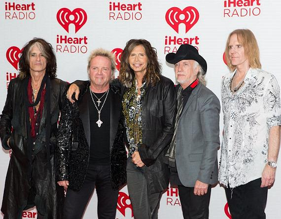 Joe Perry, Joey Kramer, Steven Tyler, Brad Whitford and Tom Hamilton of Aerosmith