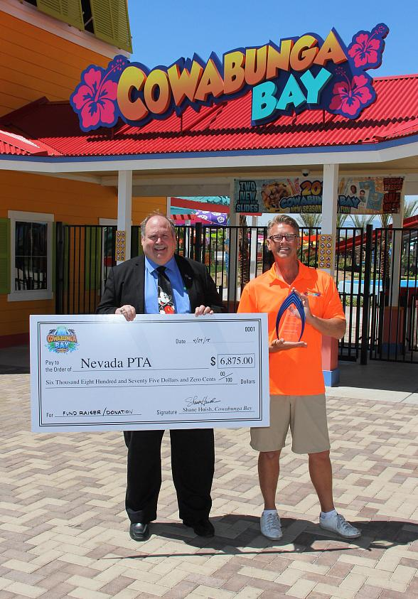 Cowabunga Bay donates $6500 to Nevada PTA