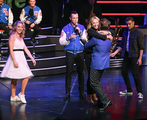 "Robert and Kym were brought on stage for the ""Dancing with Human Nature"" section of the show"