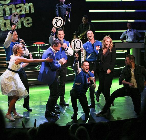 """Robert and Kym were brought on stage for the """"Dancing with Human Nature"""" section of the show"""